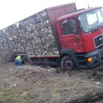 Ciężarówka i 2000 indyków w rowie