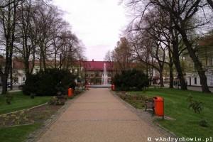 Fontanna w parku miejskim w Andrychowie