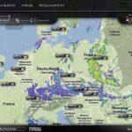 Radarowa mapa opadów w Europie