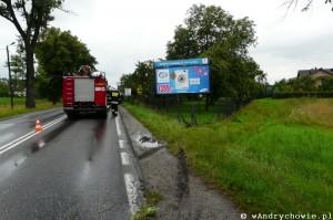 Wypadek na DK52 - granica Andrychów-Inwałd