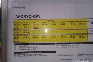 Rozkład jazdy PKP Andrychów