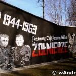 """Mural ku czci """"Żołnierzy Wyklętych"""""""