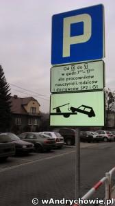 Oznakowanie parkingu przy SP 2 Andrychów