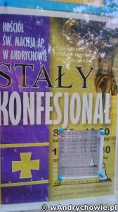 Dyżury w stałym konfesjonale w Andrychowie