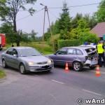 Wypadek na ul. Krakowskiej w Andrychowie