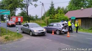 Wypadek na ulicy Krakowskiej w Andrychowie