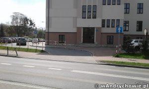 Wjazd na parking przy SP2 Andrychów - 2017