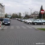 Wyjazd z parkingu przy SP2 Andrychów - kwiecień 2017