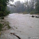 Zniszczenia spowodowane przez Wieprzówkę na Olszynach w Andrychowie