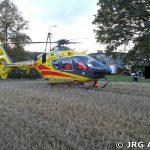 Rannny motocyklista zabrany został przez śmigłowiec LPR