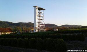 Wieża widokowa w Ogrodzie Jana Pawła II w Inwałdzie