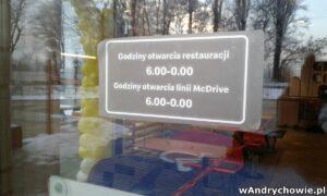 Godziny otwarcia McDonalda w Andrychowie